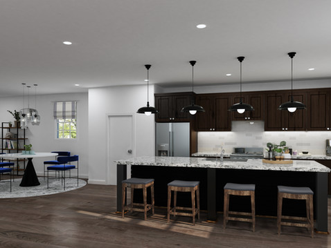 Kitchen and Dining Rendering