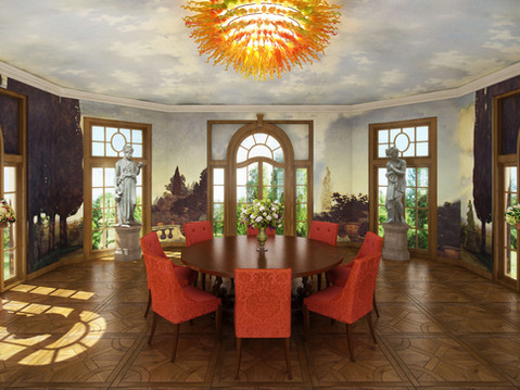 3D Rendering of a Luxurious Conservatory