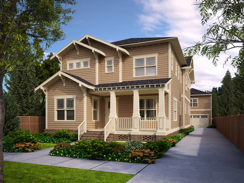 Realistic Rendering of a House