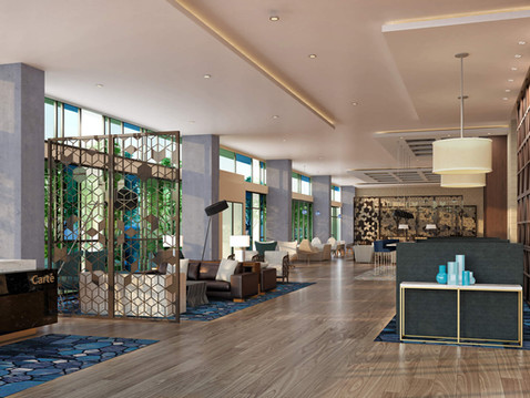 Hotel Lobby Interior Rendering