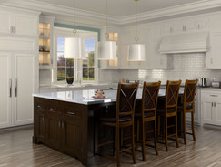3D Rendering of a Kitchen Island