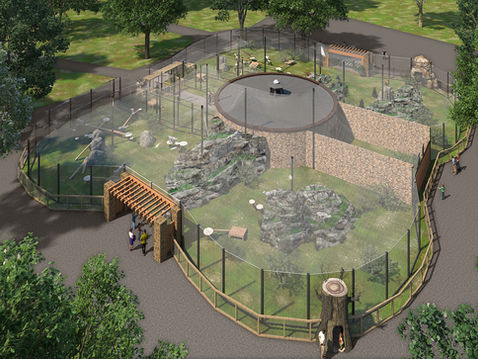 Aerial 3D Rendering of a Leopard Exhibit