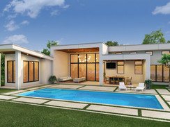Architectural Rendering of a Modern House