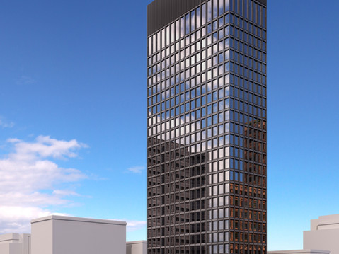 Proposed Highrise Commercial Rendering