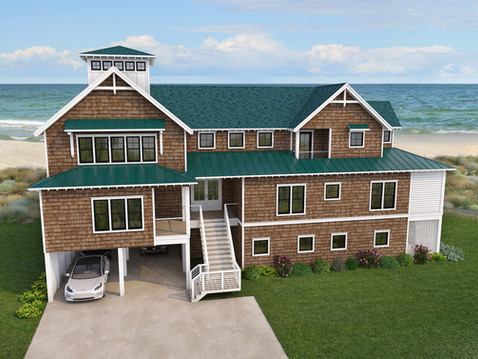Architectural Rendering of a Beach House