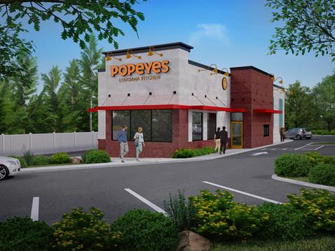 Popeye's Chicken 3D Rendering