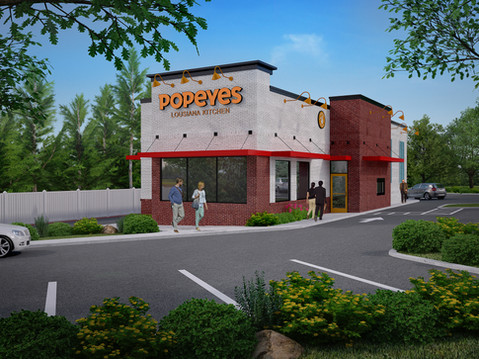 Popeye's Chicken 3D Rendering