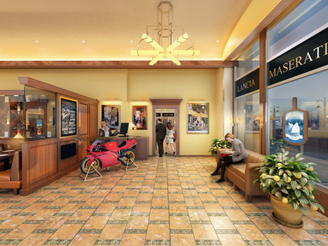 Carlucci Reception Interior Rendering