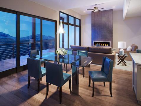 Residential Interior Kitchen Rendering