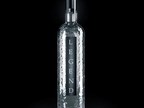 3D Rendering of a Legend Glass Bottle