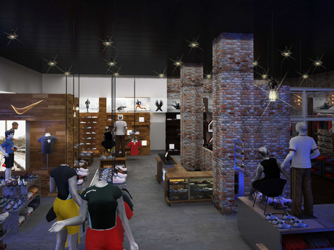 Shoe Store Interior Rendering