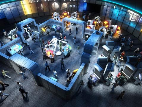 3D Floor Plan of a Science Museum