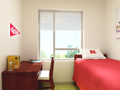 3D Animation of a College Dorm Building
