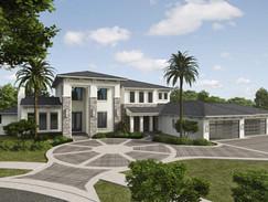 Luxury Home 3D Rendering Concept