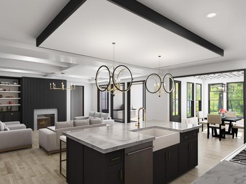 Kitchen Interior Rendering