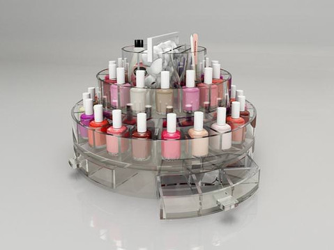 Photorealistic 3D Rendering of a Nail Polish Stand