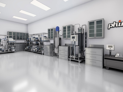 Lab Interior Rendering