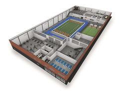 Fitness Center 3D Floor Plan