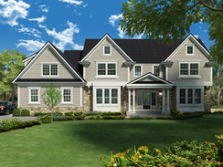 Photorealistic Rendering of the Front of a House