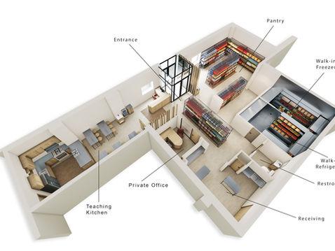 UMD Pantry 3D Floor Plan