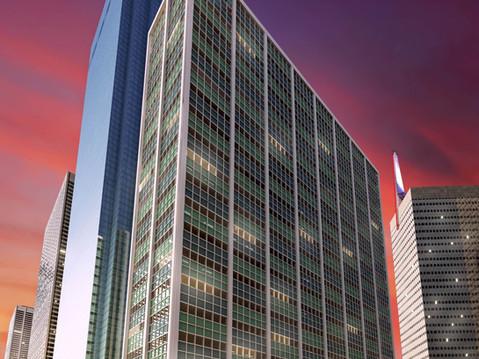 City Skyscraper Architectural Rendering