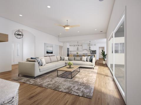Interior Living Room Rendering