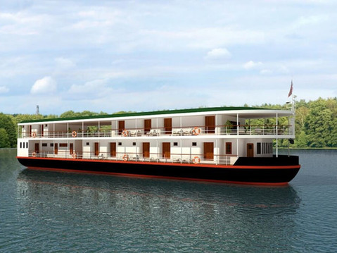 3D Rendering of a River Boat