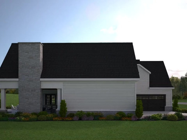 Rendered Animation of a Large House