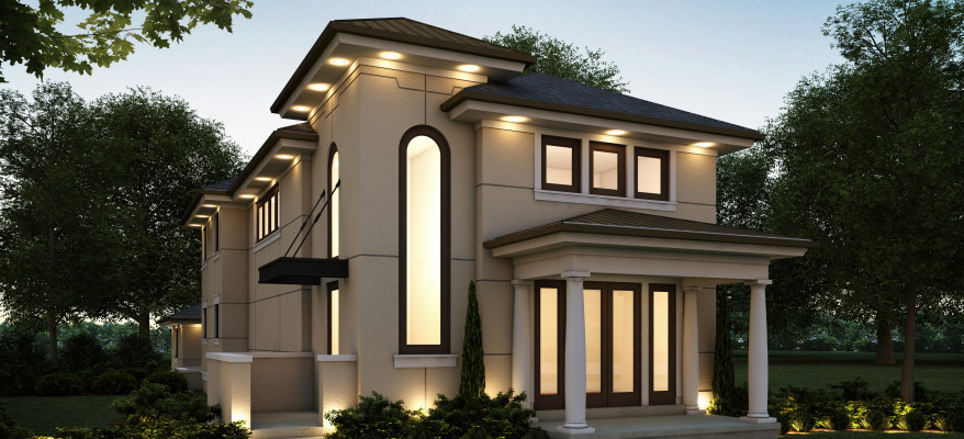 Architectural Rendering of a Modern Home