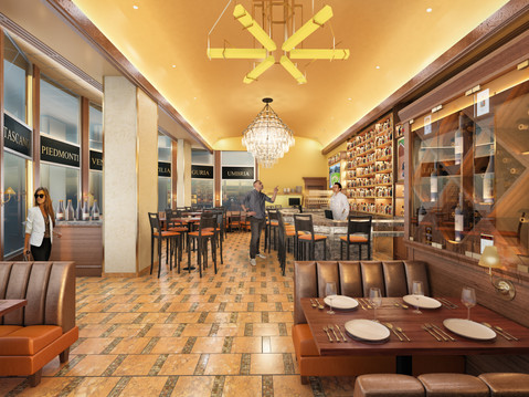 Carlucci Bar Interior Rendering