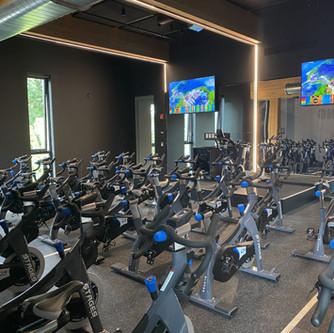 Indoor cycling room