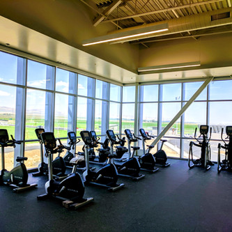 High school cardio with a view
