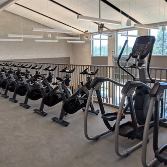 Indoor cycling in high school gyms