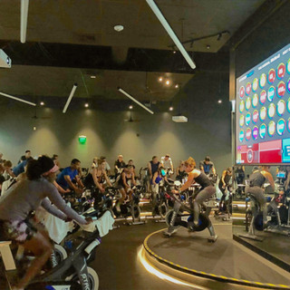 Indoor cycling group exercise with StagesStudio