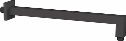 Edge Miela Double Black Square Shower Arm 400mm Long