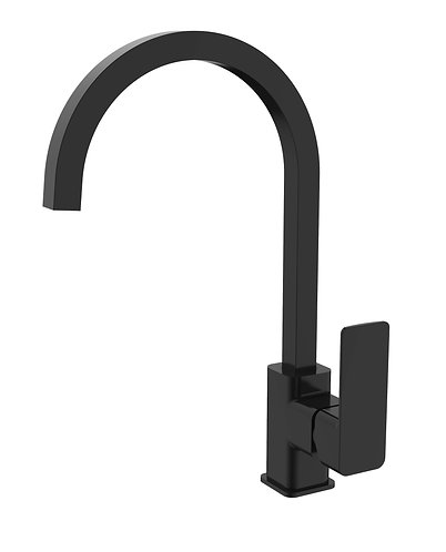Sterlyn Double Black Deck Mounted Sink Mixer