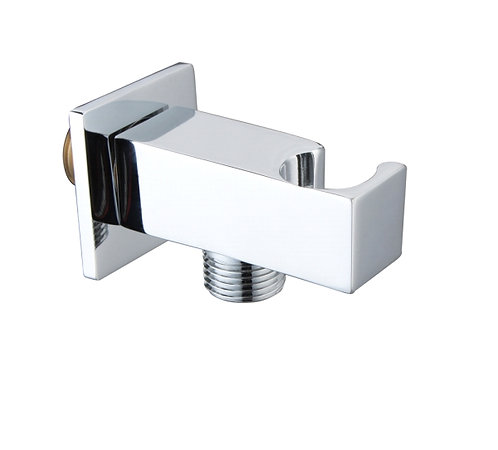 Edge Miela Chromed Square Wall Outlet & Cradle