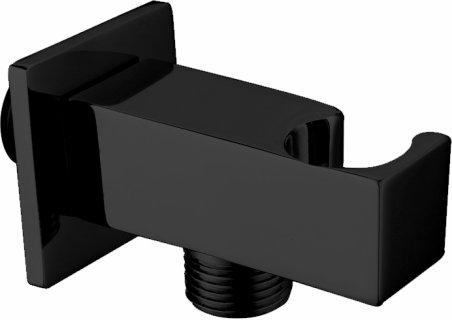 Edge Miela Double Black Square Wall Outlet & Cradle