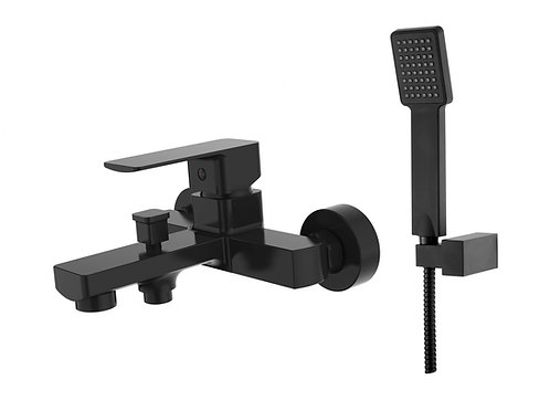 Sterlyn Double Black Wall Mounted Bath Mixer