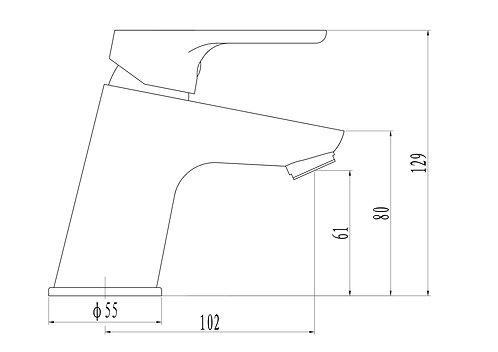 Onex basin mixer drawing