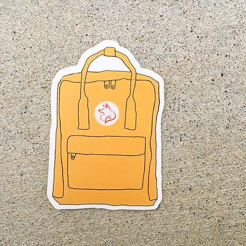Yellow Fox Backpack Sticker