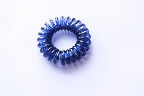 Navy Blue Spiral Hair Tie