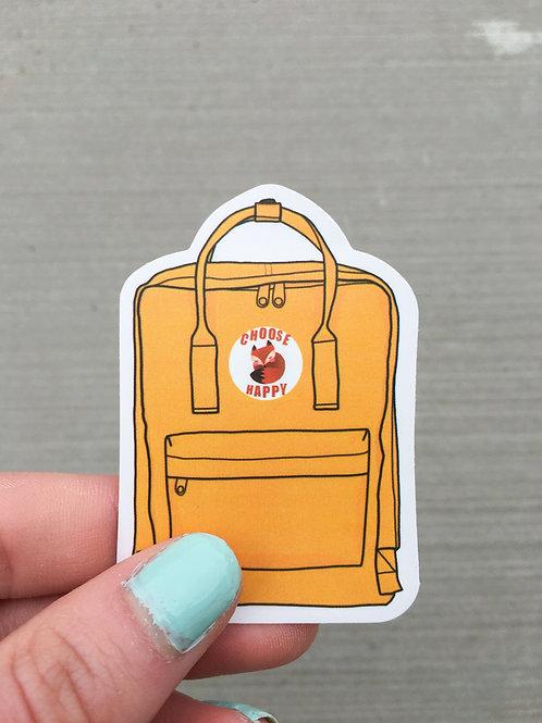 Choose Happy Backpack Sticker