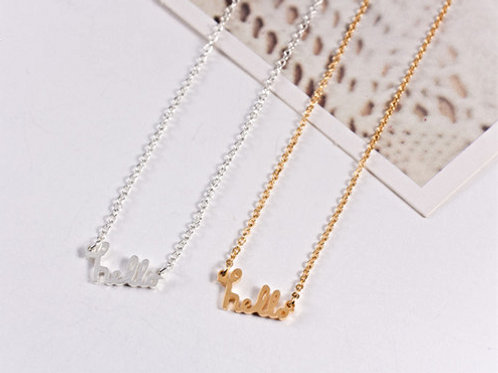 Simple Hello Necklace