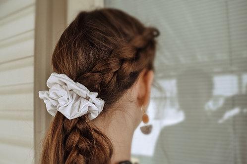 Delicate White Scrunchie