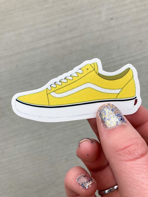 Yellow Shoe Sticker
