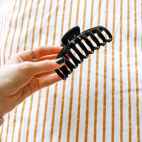 Black Velvet Oversized Claw Clip