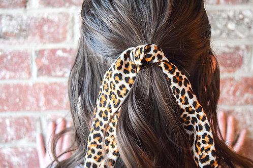 Leopard Print Mini Hair Scarf
