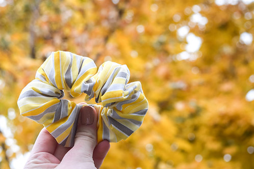 Striped Spring Scrunchie
