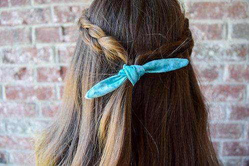 Teal Tie Dye Hair Tie